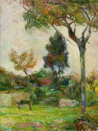 Two cows. Paul Gauguin