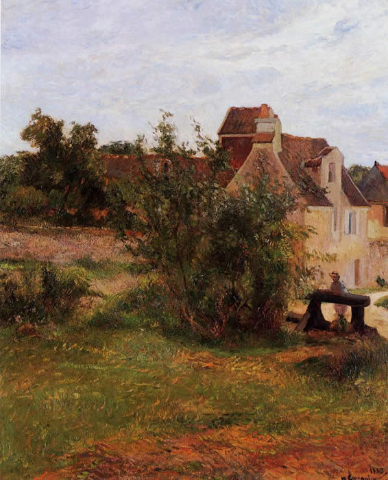 Busagny Farm Osny, the Gate. Paul Gauguin