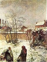 Le jardin en hiver, Rue Carcel. The Garden in Winter - Paul Gauguin