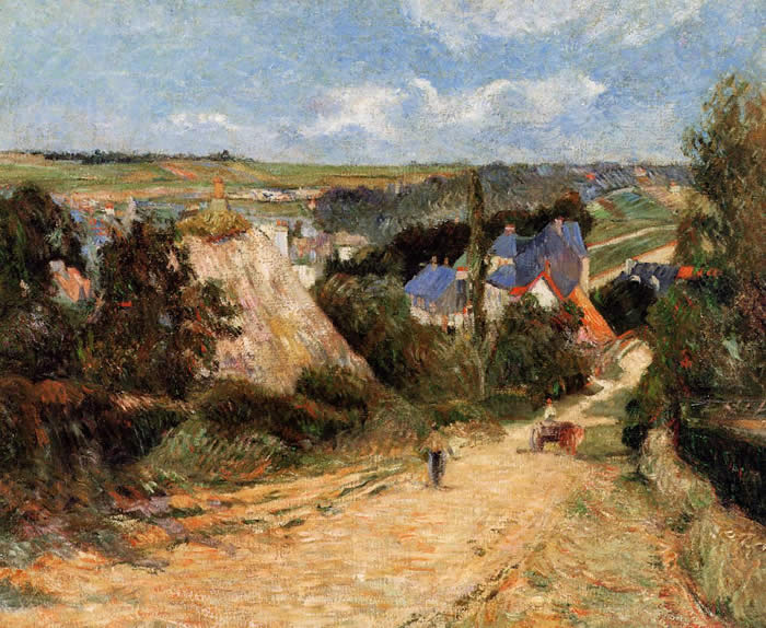 View of Osny Paul Gauguin 1883.