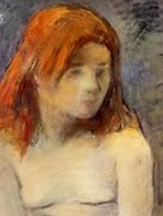 Bust of nude girl. Paul Gauguin 1884.