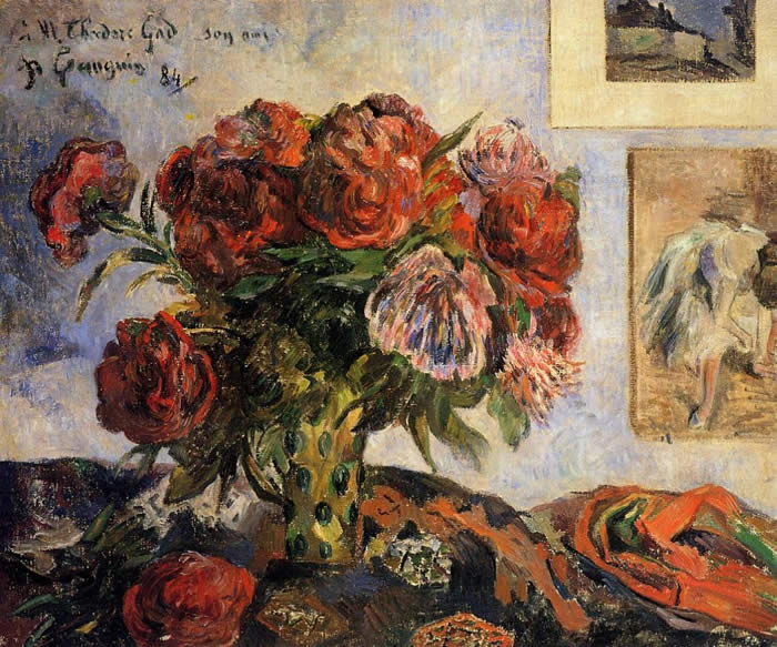 Vase of peonies. Paul Gauguin 1884
