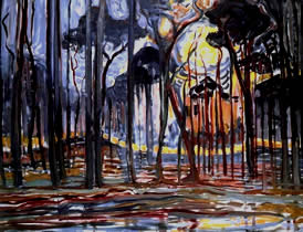Piet Mondrian- Oil Painting Woods near Oele