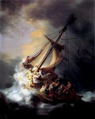 """Christ in the Storm on the Lake of Galilee"" – Rembrandt"