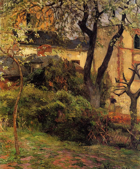 Rouen in Spring. Paul Gauguin 1884