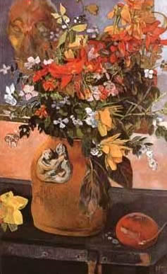 Still Life with Flowers. Paul Gauguin