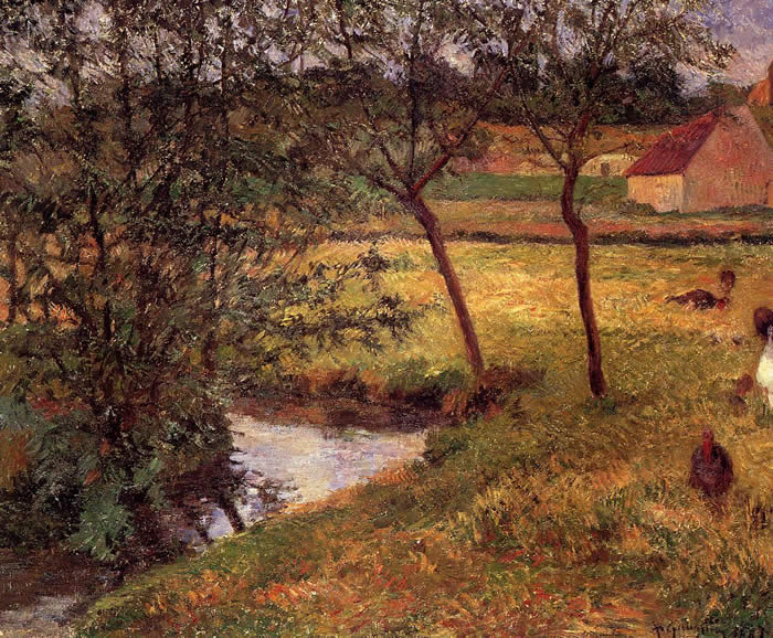 (with wild turkeys.) Paul Gauguin