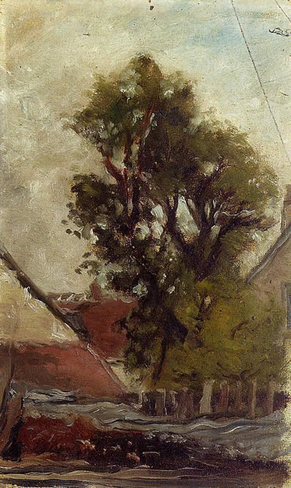 Tree in a farmyard - Sketch. gauguin