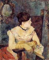 (Mette Gauguin in an Evening Dress). Paul Gauguin 1884